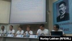 Участники пресс-конференции по итогам экспедиции «По следам Алихана Букейхана».