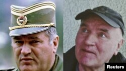 Serbia -- A combo phot shows Radko Mladic in Pale dated May 7, 1993 and in Belgrade after he was arrested on May 26, 2011