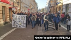 Protestna šetnja u Banjaluci, 7. novembar 2015.