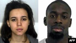 A combo photo released on January 9 by the French police showing Hayat Boumeddiene and common-law husband Amedy Coulibaly, suspected in a spate of shootings after the January 7 Charlie Hebdo attack and who was killed when French police stormed a kosher market in Paris on January 9 to free hostages.