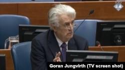 Radovan Karadžić u sudnici u Hagu