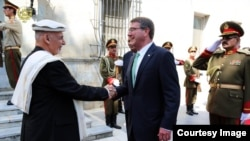 U.S. Defense Secretary Ash Carter previously met with Afghan President Ashraf Ghani in Kabul on July 12.