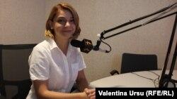 Vlada Ciobanu în studioul Europei Libere