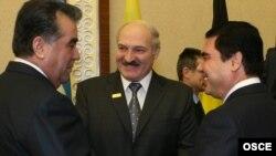 Эмамалі Рахмон, Аляксандар Лукашэнка і Гурбангулы Бердымухамедаў