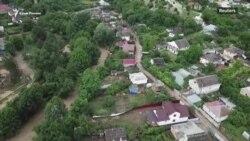 В Крыму снова потоп: как спасаются села Бахчисарайского района (видео)