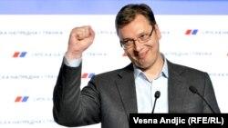 Serbiýanyň premýer-ministri Aleksandar Wuçiç.