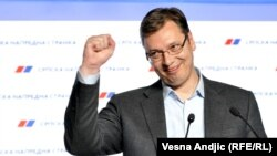 """Serbia will continue on its European path and we'll try to accelerate it,"" Serbian Prime Minister Aleksandar Vucic said on April 24."