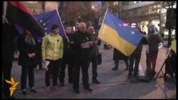 Олександр Тимошенко на Євромайдані у Празі
