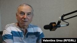 Valeriu Darie în studioul Europei Libere la Chișinău