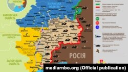 Ситуація в зоні бойових дій на Донбасі, 18 серпня 2019 року. Інфографіка Міністерства оборони України