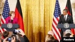 Բարաք Օբամայի և Անգելա Մերկելի համատեղ ասուլիսը Վաշինգտոնում, 9-ը փետրվարի, 2015թ․