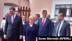 Aleksandar Vučić i Kolinda Grabar Kitarović u poseti Dalju, 20. juni 2016.