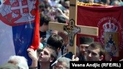 Sa protesta protiv sporazuma sa Prištinom