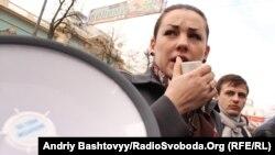 Депутат Верховной Рады и активистка «Евромайдана» Леся Оробец.