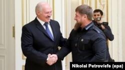 Александр Лукашенко и Рамзан Кадыров на встрече в Минске, 25 сентября 2017 года