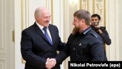 Беларус президенти Александр Лукашенко менен Чеченстандын башчысы Рамзан Кадыровдун Минск шаарындагы жолугушуусу. 25-сентябрь, 2017-жыл.