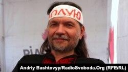 Ukraine -- Kyiv City Council Member Oleksandr Bryginets. Hunger strike in the tent city on Khreshchatyk, 30Apr2012