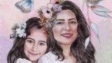 طرحی از پریسا و ریرا، اثر رؤیا، که حامد اسماعیلیون در فیسبوک منتشر کرده است.