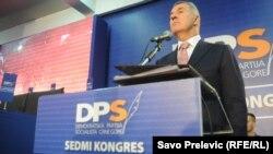 Milo Đukanović na kongresu
