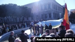 Акція у Мадриді на підтримку Євромайдану