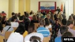 Учесници на семинарот за македонски јазик, литература и култура во Охрид