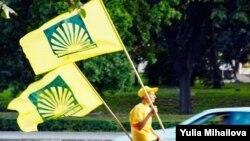 Передвиборна агітація у Кишиневі, 27 липня 2009 року