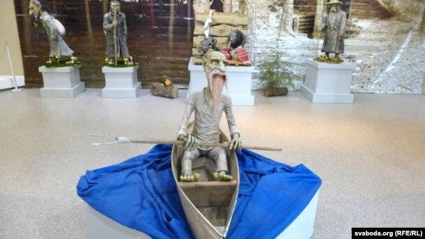 Адзін з пэрсанажаў выставы ў магілёўскім музэі