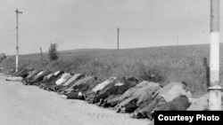 Трупы немцев, убитых в Чехословакии в 1945 году во время одной из расправ