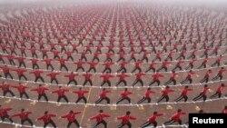 Кытайдагы таңкы гимнастика