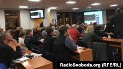 На скликану дискусію «Русофобія – антисемітизм 21-го століття» прийшли лише особи, які відомі своєю різкою антизахідною та пропутінською позицією. Прага, 2 листопада 2017 року