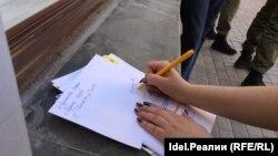 Сбор подписей на акции «Открытой России» в Казани