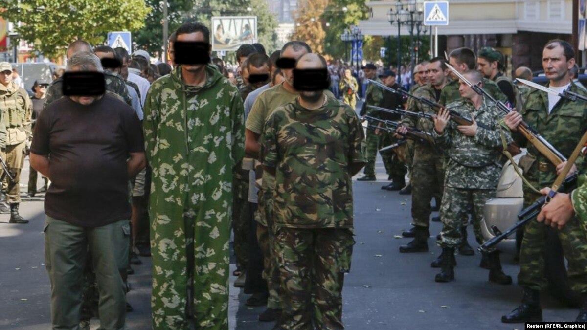 Prisoners of war of the Armed Forces of Ukraine in Lugansk