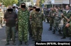 Під час так званого «параду українських військовополонених» у Донецьку