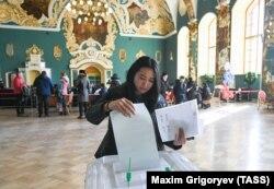 Голосование на Казанском вокзале на выборах президента РФ