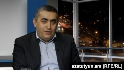 Armenia -- Dashnaktsutyun's Armen Rustamian is interviewed in the RFE/RL studio in Yerevan.