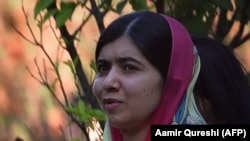 Pakistani activist and Nobel Peace Prize laureate Malala Yousafzai