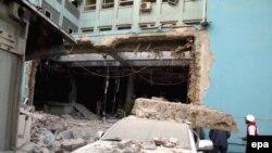 Ауғанстанның ақпарат және мәдениет министрлігінің кіреберісінде болған шабуылдан кейін