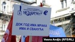 Sindikalni protest u Beogradu, 25. mart 2011.