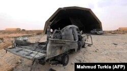 Знищена турецькими дронами військова техніка ЛНА на базі «Аль-Ватия». 18 травня 2020 року