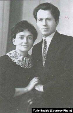 Юрій Бадзьо із дружиною Світланою Кириченко, яка також була активною учасницею українського правозахисного руху