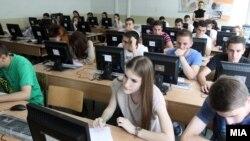 Архивска фотографија - Екстерно тестирање во скопските училишта.