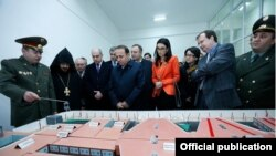 Armenia - Prime Minister Hovik Abrahamian, Justice Minister Arpine Hovannisian and U.S. Ambassador Richard Mills visit a new prison in Armavir, 15Dec2015.