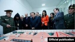 Armenia - Prime Minister Hovik Abrahamian, Justice Minister Arpine Hovannisian and U.S. Ambassador Richard Mills visit a new prison in Armavir, 15Dec2015.