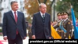 Ukrainanyň prezidenti Petro Poroşenko we Türkiýäniň prezidenti Rejep Taýýyp Erdogan
