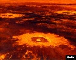 Кратер Саскія на Венері