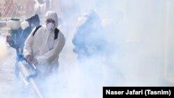 Dezinfekcija ulica u Teheranu, Iran, 15 mart 2020.