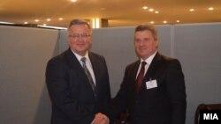 Средба на претседателот Ѓорге Иванов со претседателот на Република Полска, Бронислав Коморовски.