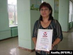 Рәсилә Габдрахманова җиңүче дипломы белән