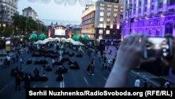 Фан-зона «Евровидения» на Крещатике в Киеве