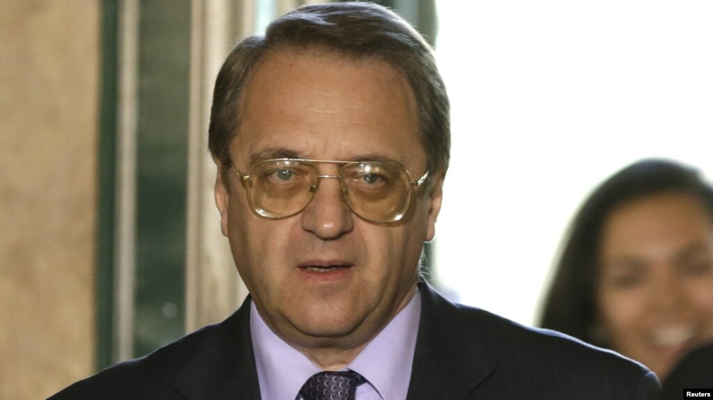 "Russian Deputy Foreign Minister Mikhail Bogdanov said the presence of U.S. forces in Syria was ""illegal."""